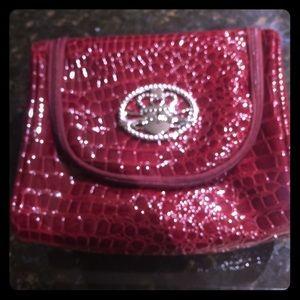 Kathy Van Zeeland Croco PVC Travel Cosmetic Bag